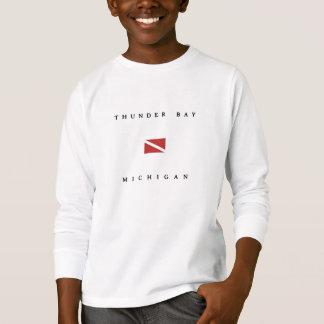 Thunder Bay Michigan Scuba Dive Flag T-Shirt