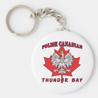 Thunder Bay Polish Canadian Leaf Keychain