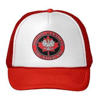 Thunder Bay Round Polish Canadian Leaf Trucker Hat