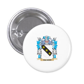 Thunder Coat of Arms - Family Crest 1 Inch Round Button