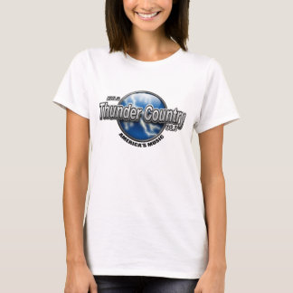 Thunder Country Ladies White Baby-Doll T-Shirt