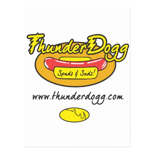 Thunder Dogg Spuds and Suds Postcard