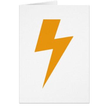 loscrazyavocados Thunder Energy Yellow Print Card