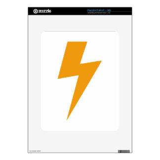 Thunder Energy Yellow Print Decals For The iPad
