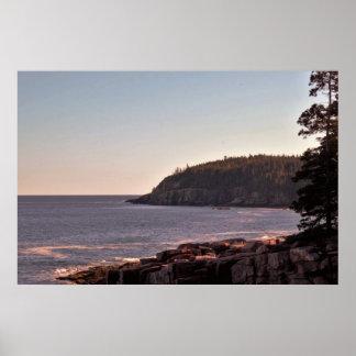 Thunder Hole Maine Coastline Poster