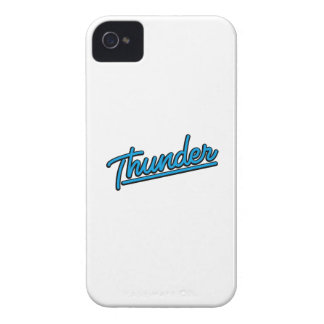 Thunder in cyan iPhone 4 cases
