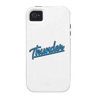Thunder in cyan iPhone 4 case