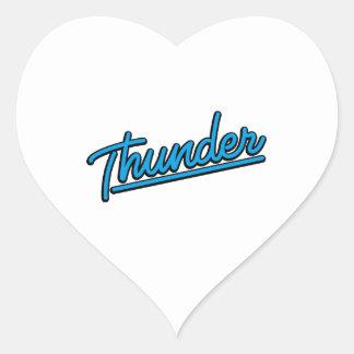 Thunder in cyan heart sticker