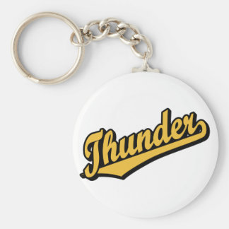 Thunder in Gold Keychain