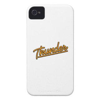 Thunder in orange iPhone 4 cases