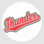 Thunder in Red and Gray Sticker