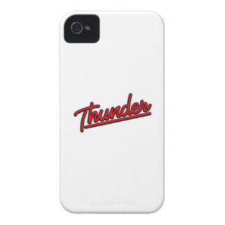 Thunder in red Case-Mate iPhone 4 cases