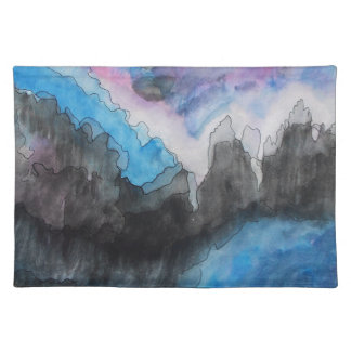 Thunder in the clouds cloth placemat