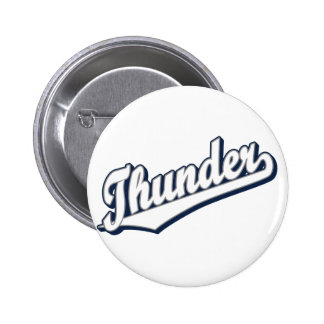 Thunder in White, Gray and Blue Pinback Button