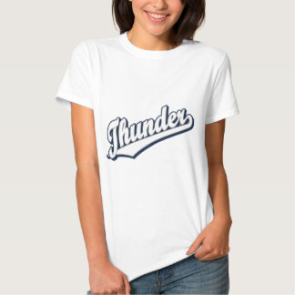 Thunder in White, Gray and Blue T Shirt