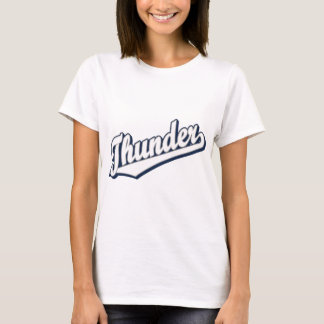 Thunder in White, Gray and Blue T-Shirt