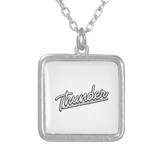 Thunder in white personalized necklace