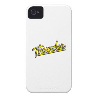 Thunder in yellow iPhone 4 Case-Mate cases