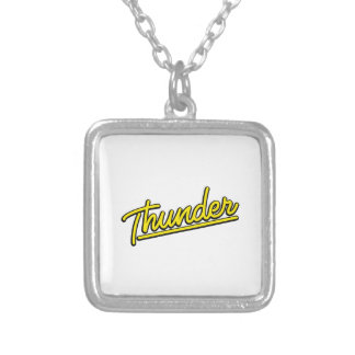 Thunder in yellow necklaces