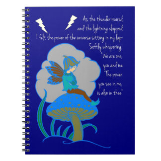 Thunder & Lightning Poem Spiral Notebook