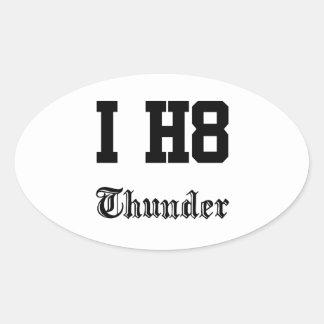 thunder oval sticker