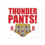 Thunder Pants Flowery Postcards
