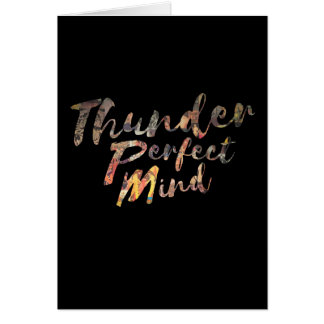 Thunder Perfect Mind Greeting Card