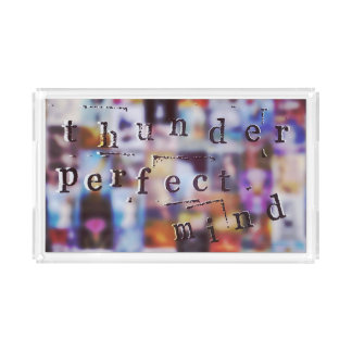 Thunder Perfect Mind Text Vanity Tray Rectangle Serving Trays