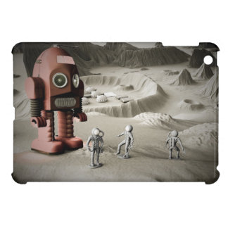 Thunder Robot and Toy Spacemen Retro Styled iPad Mini Cases