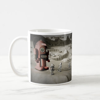 Thunder Robot and Toy Spacemen Retro Styled  Mug