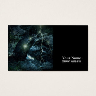 Thunder Storm lightning Wildlife Brave Bold Eagle Business Card