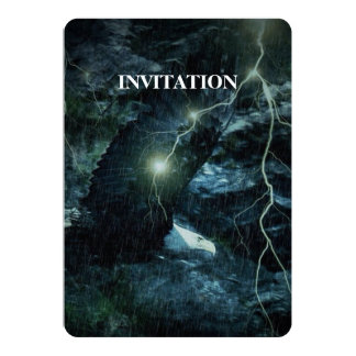 Thunder Storm lightning Wildlife Brave Bold Eagle Card