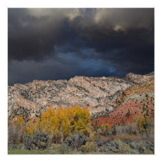 Thunder Storm over Uinta Mountains Poster