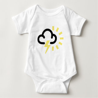 Thunder Storm: Retro weather forecast symbol Baby Bodysuit