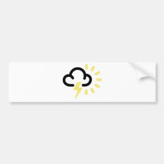 Thunder Storm: Retro weather forecast symbol Bumper Sticker