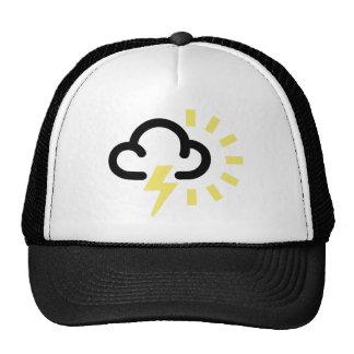 Thunder Storm Retro weather forecast symbol Trucker Hats