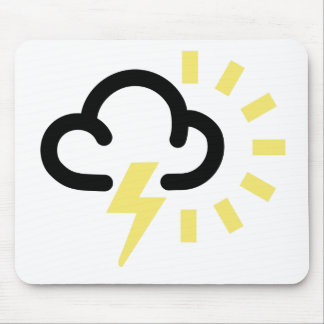 Thunder Storm: Retro weather forecast symbol Mouse Pad