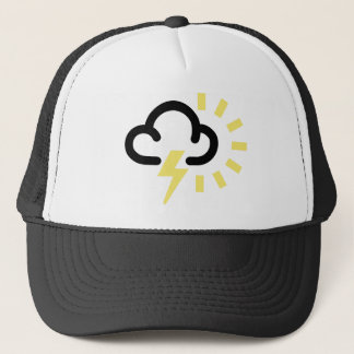 Thunder Storm: Retro weather forecast symbol Trucker Hat
