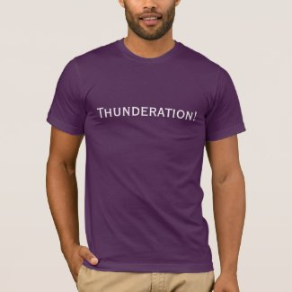 Thunderation! bold white text on purple T-Shirt