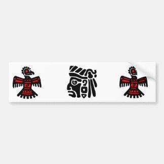 Thunderbird azteca etiqueta de parachoque