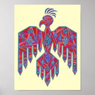 """Thunderbird colorido 8,5"""" x 11"""" impresión del póster"""