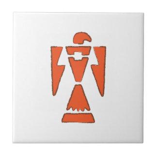 Thunderbird - diseño hacia el sudoeste indio azulejo cuadrado pequeño