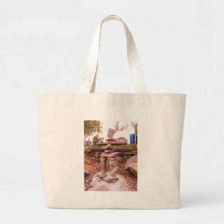 Thunderbird man large tote bag