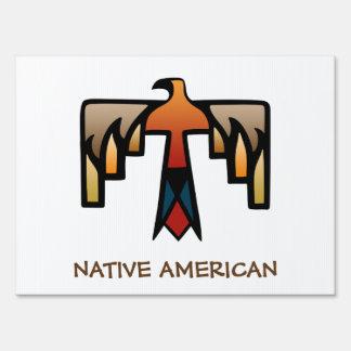 Thunderbird - Native American Indian Symbol Yard Signs