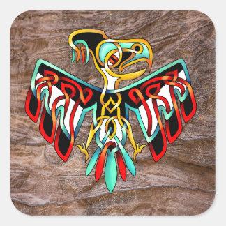 Thunderbird Calcomanias Cuadradas