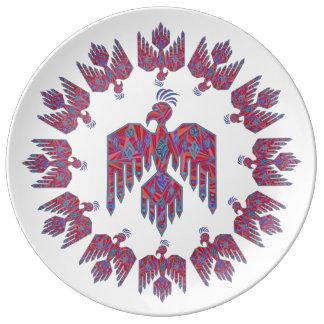 Thunderbird Southwest Art Native American Symbol Porcelain Plates