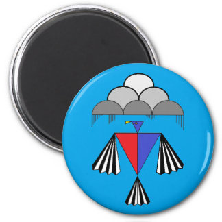 Thunderbird - turquesa Bkg. Imán Para Frigorífico