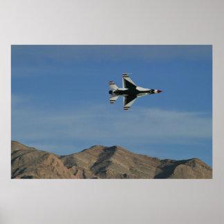 Thunderbirds 2010 a solas del U.S.A.F. Póster