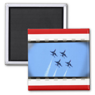 thunderbirds 2 inch square magnet