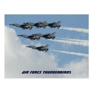 Thunderbirds de la fuerza aérea postales